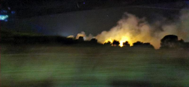Incendio in località Barone di Catanzaro