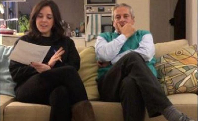 Papà e figlia spiegano il coronavirus