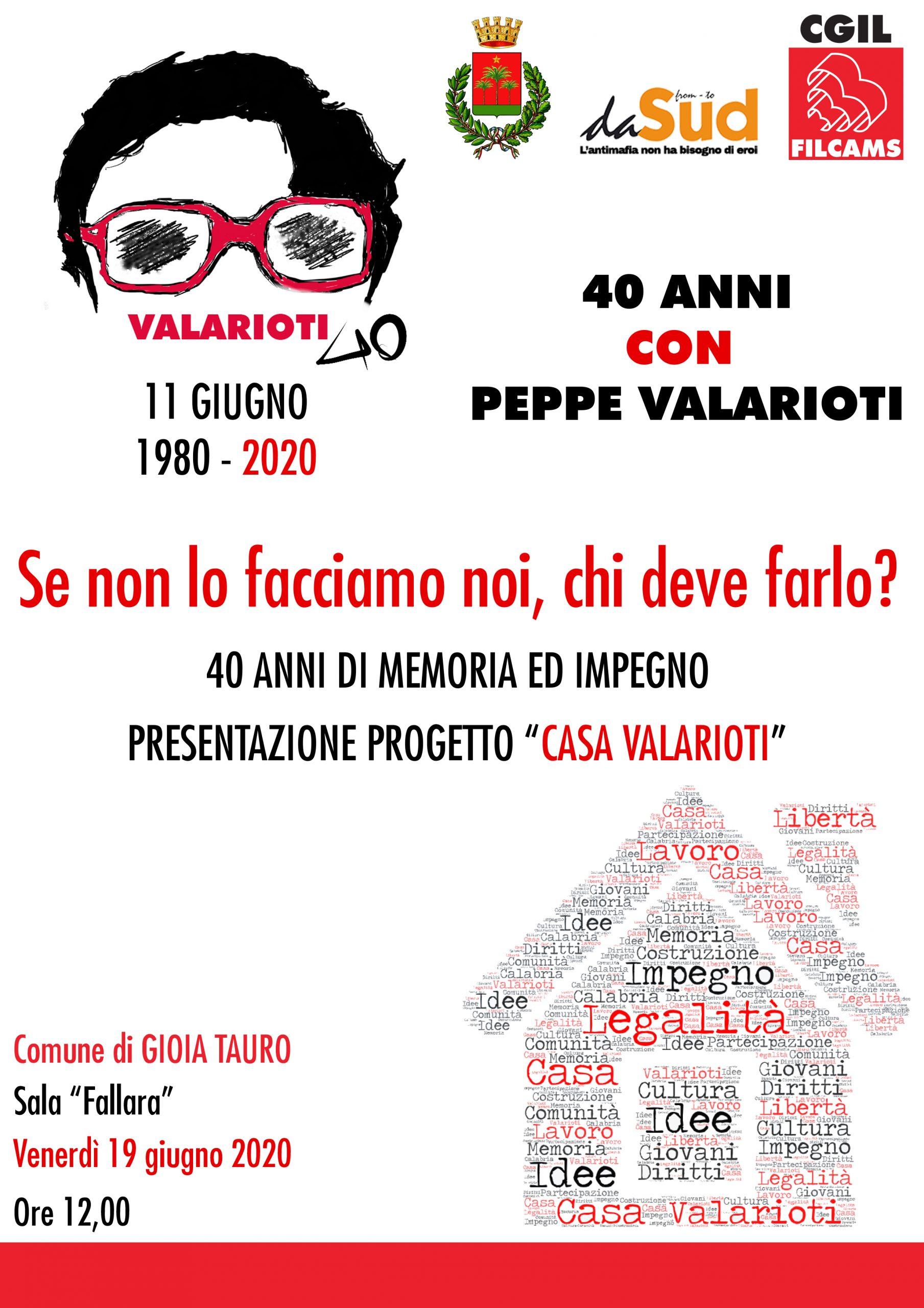 locandina dell'iniziativa CASA VALARIOTI