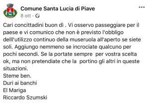 mascherina Santa Lucia di Piave