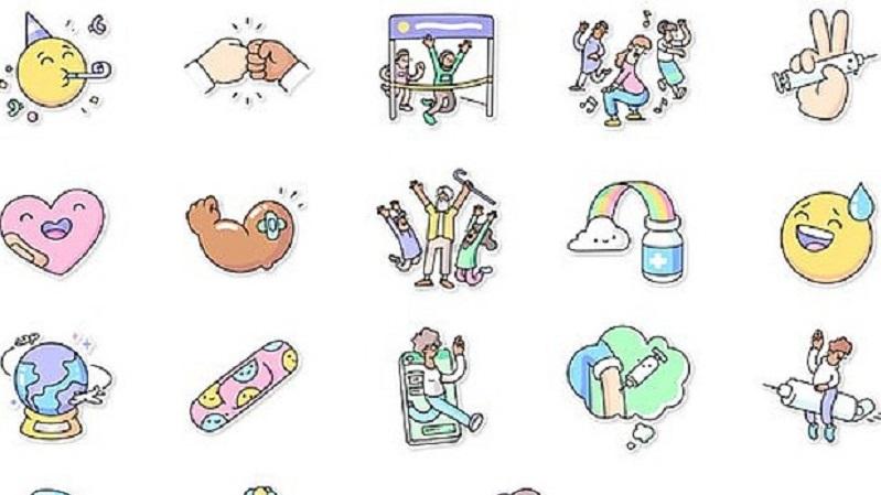 stickers whatsapp vaccini